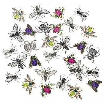 200 Gros Confettis Insectes Rétro (4 cm) - Carton