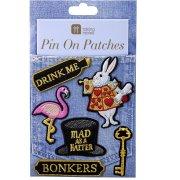 5 Badges Patchs Délicieuse Alice