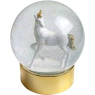 Grande Boule à Neige Licorne Or (11 cm) - Verre
