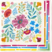20 Serviettes Floral Latina