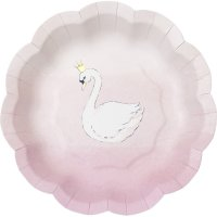 Contient : 1 x 12 Petites Assiettes Cygne Pinky