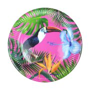 12 Assiettes Tropical Birds