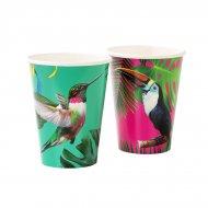 12 Gobelets Tropical Birds