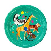 8 Assiettes Jungle Fun