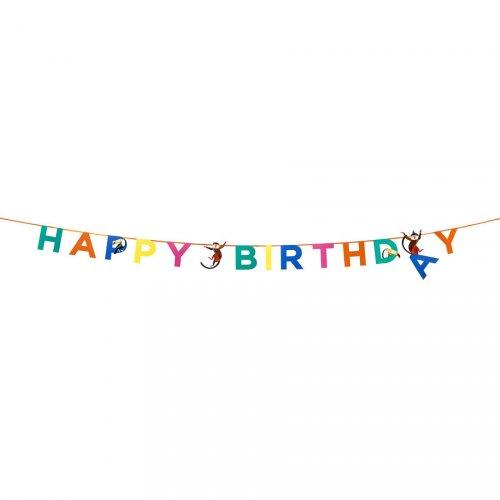 Guirlande Happy Birthday Jungle Fun (3,50 m)