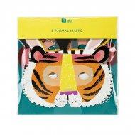 8 Masques Animaux Jungle Fun