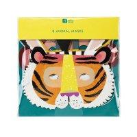 Contient : 1 x 8 Masques Animaux Jungle Fun