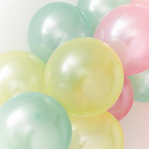 16 Ballons Rainbow Pastel