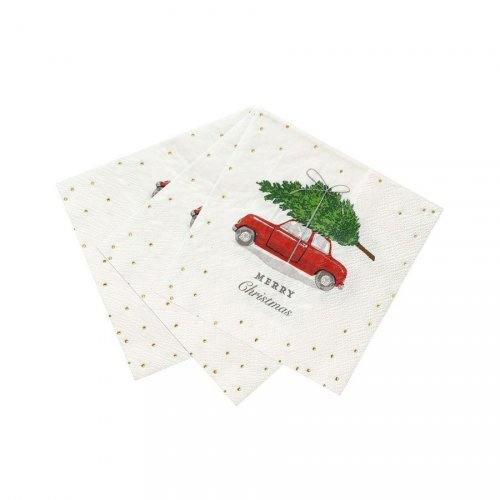 16 Petites Serviettes Merry Christmas On the Road