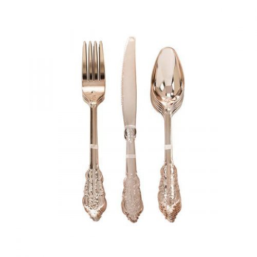 Set 18 Couverts Elégance Rose Gold