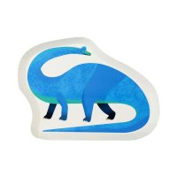 Contient : 1 x 12 Assiettes Funny Dino - Recyclable
