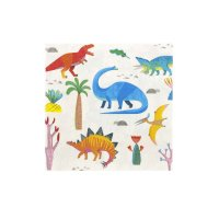 Contient : 1 x 20 Serviettes Dino Colors - Recyclable