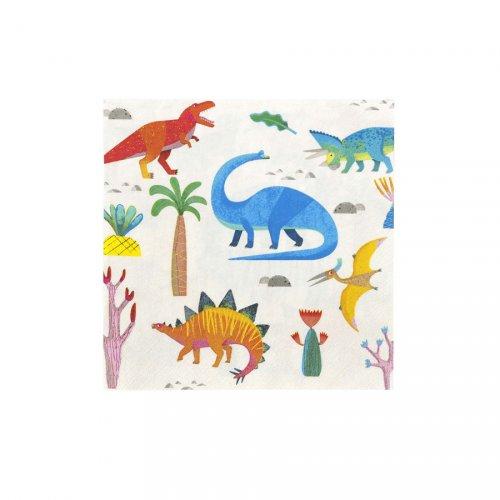 20 Serviettes Dino Colors
