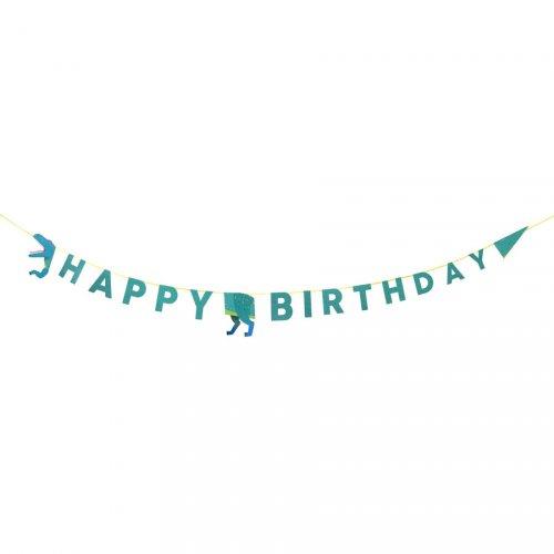 Maxi Guirlande Happy Birthday Dino (3,5 m)