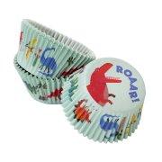 30 Caissettes à Cupcakes Dino Colors