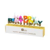 Contient : 1 x Mini Bougies Happy Birthday Arc en Ciel Glitter (6 cm)