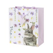 1 Grand Sac Cadeau Lapin Flowers (26,5 cm)