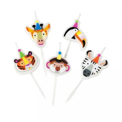 5 Mini Bougies Jungle Fun