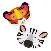 12 Assiettes Zèbre et Tigre Jungle Fun