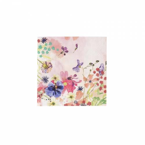 20 Serviettes Fleurs