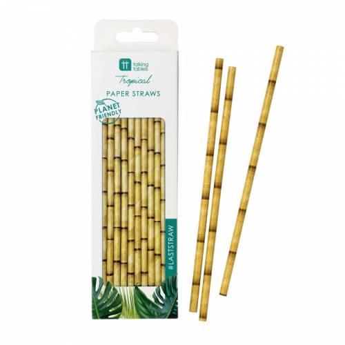 30 Pailles Bambou - Biodégradables