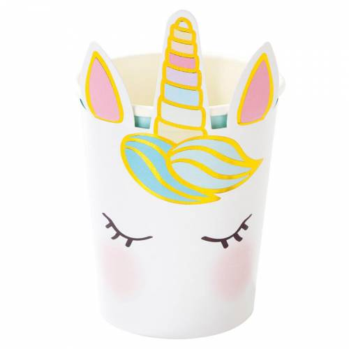 8 Gobelets Licorne Pastel