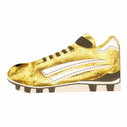 8 Serviettes Chaussures de Foot - Gold