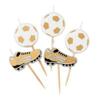 Contient : 1 x 5 Mini Bougies Foot - Champions Party
