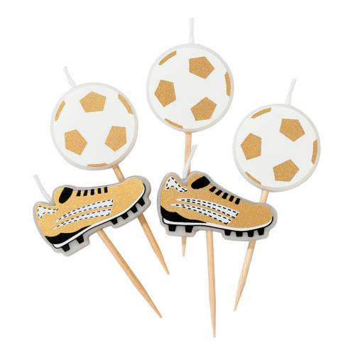 5 Mini Bougies Foot - Champions Party