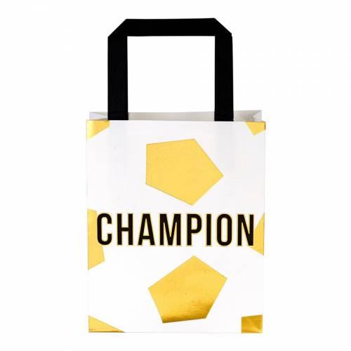 6 Pochettes Cadeaux Champions Party Or