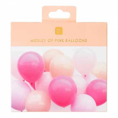 16 Ballons - Assortiment Rose