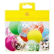 16 Ballons Arc-en-Ciel Confettis