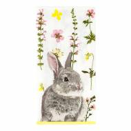 20 Serviettes Lapin Flowers