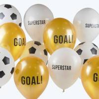 Contient : 1 x 12 Ballons Foot - Champions Party