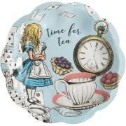 12  Petites Assiettes Alice Vintage Bleu