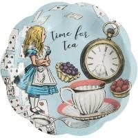 Contient : 1 x 12  Petites Assiettes Alice Vintage Bleu