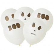 5 Ballons Fantôme BOO