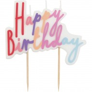 Bougie Happy Birthday Pastel (10 cm)