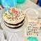 Bougie Happy Birthday Rainbow (10 cm) images:#2