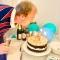 Bougie Happy Birthday Rainbow (10 cm) images:#3