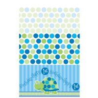 Contient : 1 x Nappe First Birthday Tortue Bleu