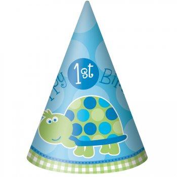 8 Chapeaux First Birthday Tortue Bleu