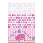 Nappe plastique First Birthday Coccinelle Rose