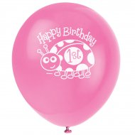 8 Ballons First Birthday Coccinelle
