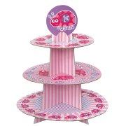 Pr�sentoir � cupcakes First Birthday Coccinelle Rose