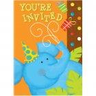 8 Invitations Animaux de la Savane