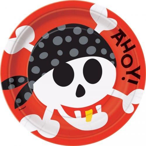 8 Assiettes Pirate Fun