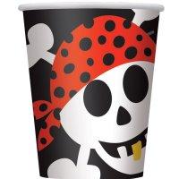 Contient : 1 x 8 Gobelets Pirate Fun