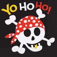 Contient : 1 x 16 Serviettes Pirate Fun
