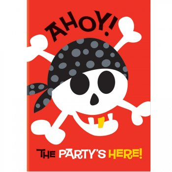 8 Invitations Pirate Fun